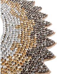 Valentino - Multicolor Grosgrain Tie Spike Strass Collar Necklace - Lyst