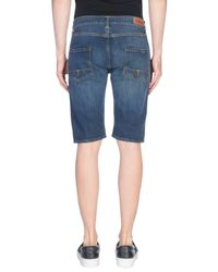 TRUE NYC - Blue Denim Bermudas - Lyst