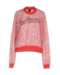 Pinko - Pink Sweatshirts - Lyst