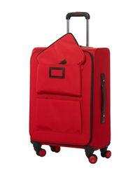 Lancel - Red Wheeled luggage - Lyst