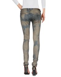 Guess - Gray Denim Trousers - Lyst
