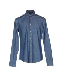 7 For All Mankind - Blue Denim Shirt for Men - Lyst