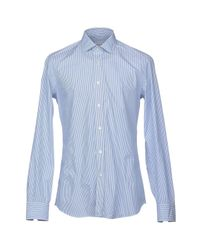 Salvatore Piccolo - Blue Shirts for Men - Lyst