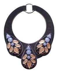 Emporio Armani - Purple Necklace - Lyst