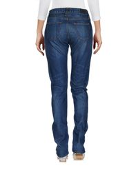 Edwin - Blue Denim Trousers - Lyst