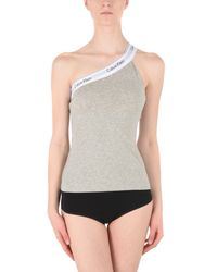 CALVIN KLEIN 205W39NYC - Gray Sleeveless Undershirt - Lyst