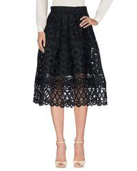 Maje - Black 3/4 Length Skirt - Lyst