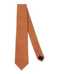 Mp Massimo Piombo - Orange Tie for Men - Lyst