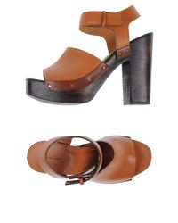 Soho De Luxe - Brown Sandals - Lyst