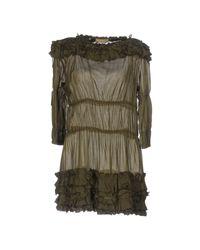 Ermanno Scervino | Green Short Dress | Lyst