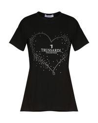 Trussardi - Black T-shirt - Lyst
