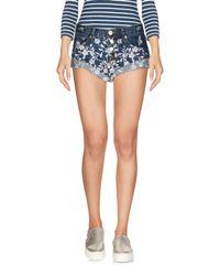Glamorous - Blue Denim Shorts - Lyst