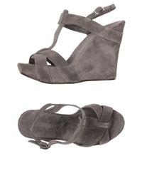 Roberto Del Carlo - Gray Sandals - Lyst