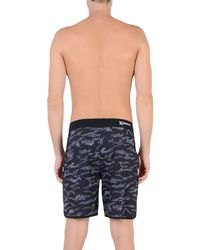 "Hurley Black Phantom Outcast 18"" Board Shorts for men"