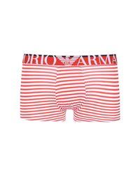 Emporio Armani - Red Boxer for Men - Lyst