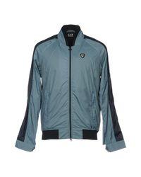 EA7 - Blue Jackets for Men - Lyst