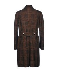 Tagliatore - Brown Coat for Men - Lyst