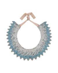 Valentino - Blue Crystal Necklace - Lyst