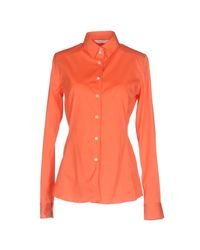 Guglielminotti - Orange Shirt - Lyst