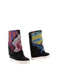 Casadei - Black Ankle Boots - Lyst
