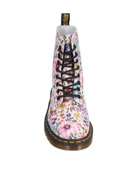 Dr. Martens White Ankle Boots