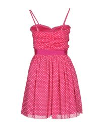Rinascimento Pink Short Dress