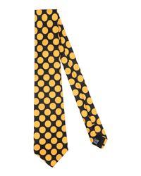 Mp Massimo Piombo - Yellow Tie for Men - Lyst