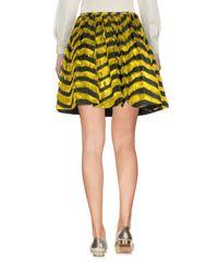 RED Valentino - Yellow Mini Skirt - Lyst