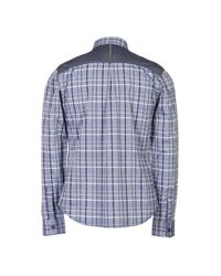 Armani Exchange - Blue Shirt for Men - Lyst