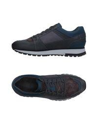 Santoni - Blue Low-tops & Sneakers - Lyst