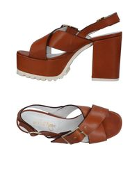 Ottod'Ame - Brown Sandals - Lyst