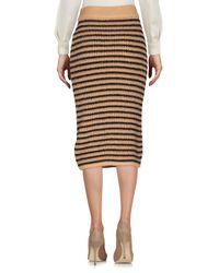 Annie P - Multicolor Knee Length Skirt - Lyst