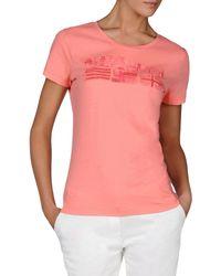 Napapijri - Pink Short Sleeve T-shirt - Lyst