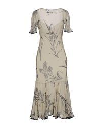 Ralph Lauren - Natural 3/4 Length Dress - Lyst
