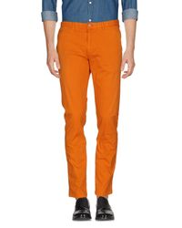 Scotch & Soda - Orange Casual Pants for Men - Lyst