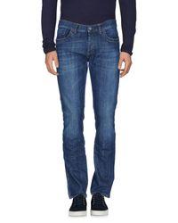 Bikkembergs - Blue Denim Pants for Men - Lyst