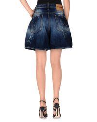 DSquared² - Blue Denim Shorts - Lyst