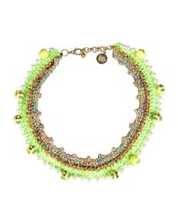 Venessa Arizaga - Green Necklace - Lyst