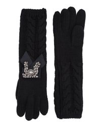 Twin Set - Black Gloves - Lyst