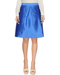 P.A.R.O.S.H. Blue Knee Length Skirt