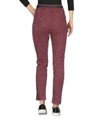 Numph - Purple Casual Trouser - Lyst