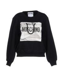 Moschino - Black Sweatshirt - Lyst