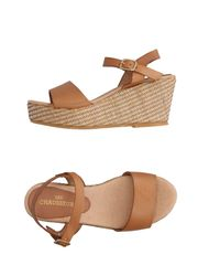LES CHAUSSEURS - Natural Sandals - Lyst