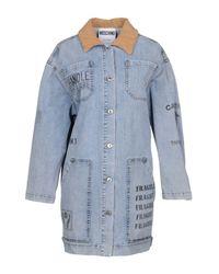 Moschino - Blue Denim Outerwear - Lyst