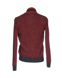 Henry Cotton's - Red Cardigan for Men - Lyst