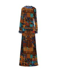 Frankie Morello - Brown Long Dress - Lyst