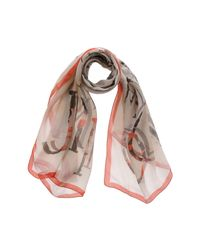 Jimmy Choo - Orange Scarves - Lyst