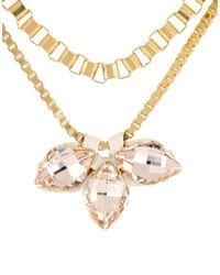 John & Pearl | Metallic Necklace | Lyst