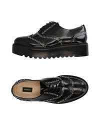 Pinko - Black Lace-up Shoes - Lyst