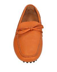 Car Shoe - Orange Loafers - Lyst